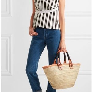 NWT | Bistro Panier Small Straw Tote Bag